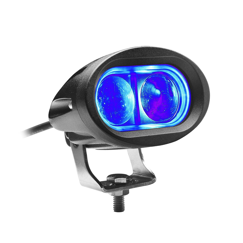 Toughened Convex Lens Waterproof PI 68 PowerBean Blue Forklift Safety Light Spot Light Warehouse Pedestrian Safe Warning Light Offroad Race Lamp 10W CREE LED 12V 24V 48V 60V LED BC01
