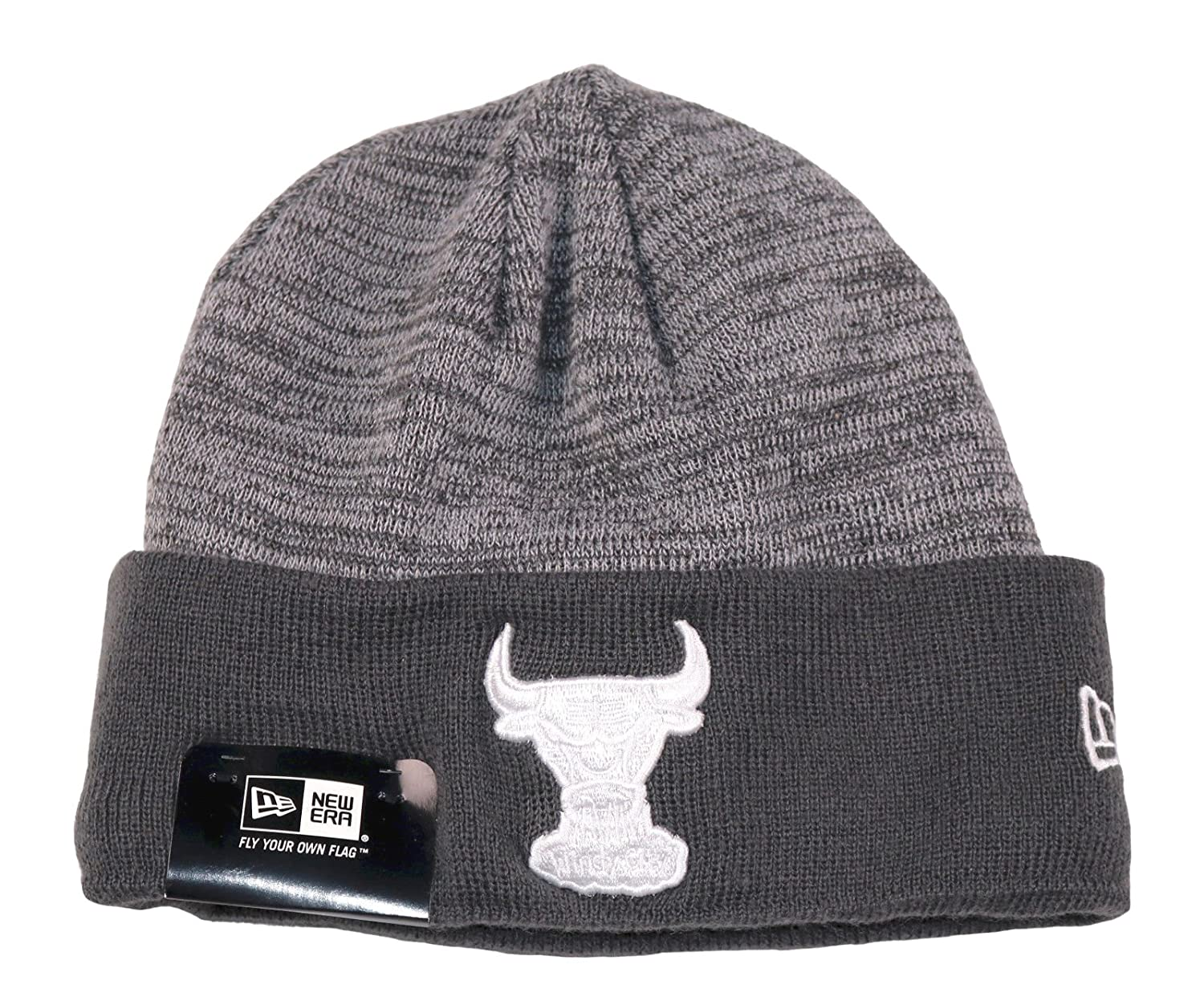 New Era Men s Chicago Bulls Knit Logo Beanie Grey White at Amazon Men s  Clothing store  c54c79627ff