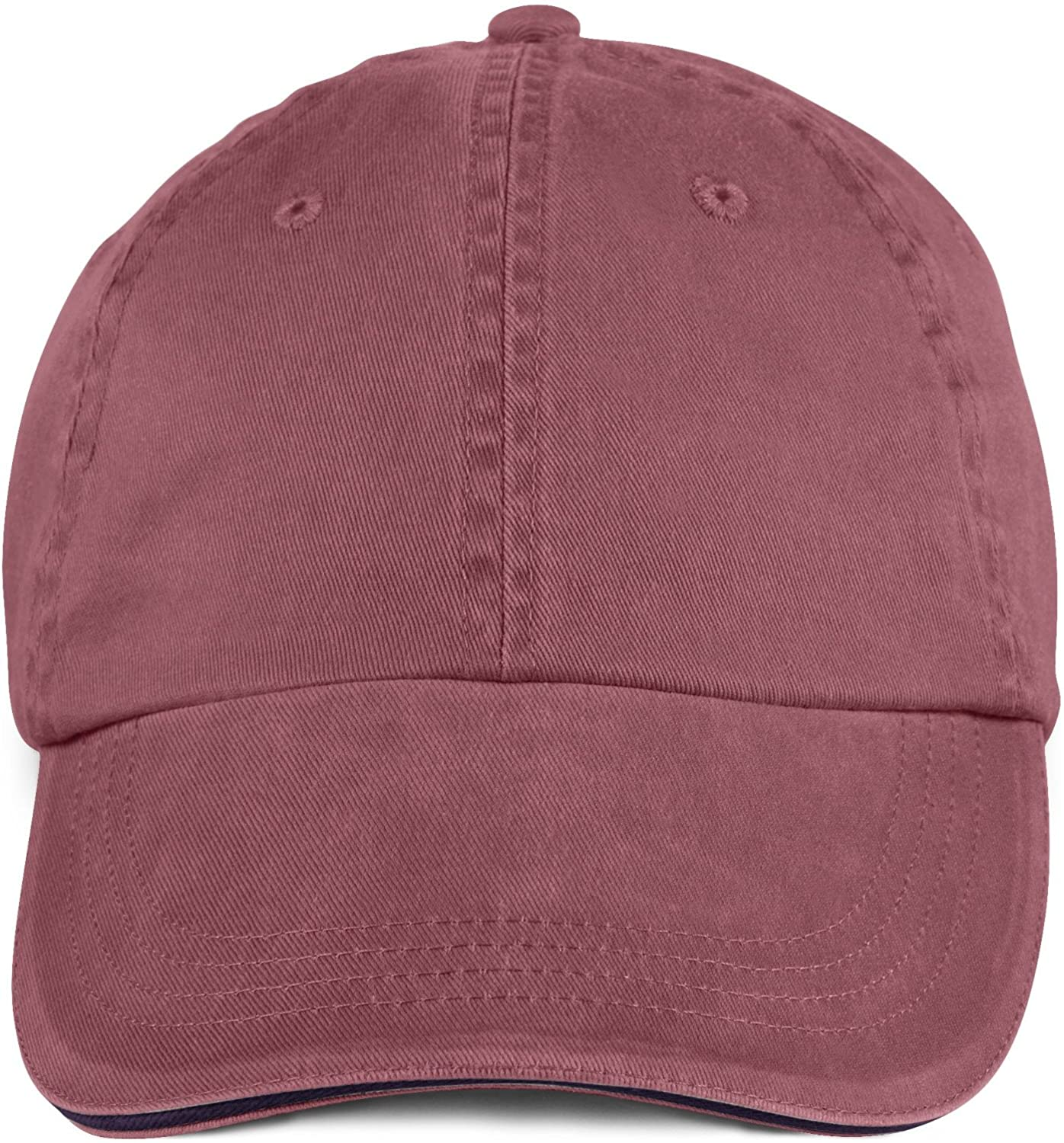 Amazon.com  Anvil 6-Panel Pigment-Dyed Twill Sandwich Baseball Cap 166   Clothing 60ccd78f3cbe