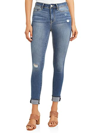 08e9c5de57 Time and Tru Women's High Rise Sculpted Ankle Denim Jegging Jean Pants  (Medium Enzyme Wash, 2, 22W x 29L) at Amazon Women's Jeans store