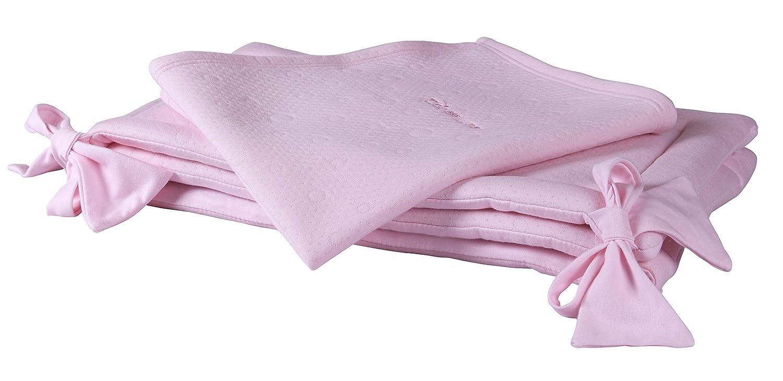Clair de Lune Cotton Candy Rocking Crib Set 2-Piece, Pink