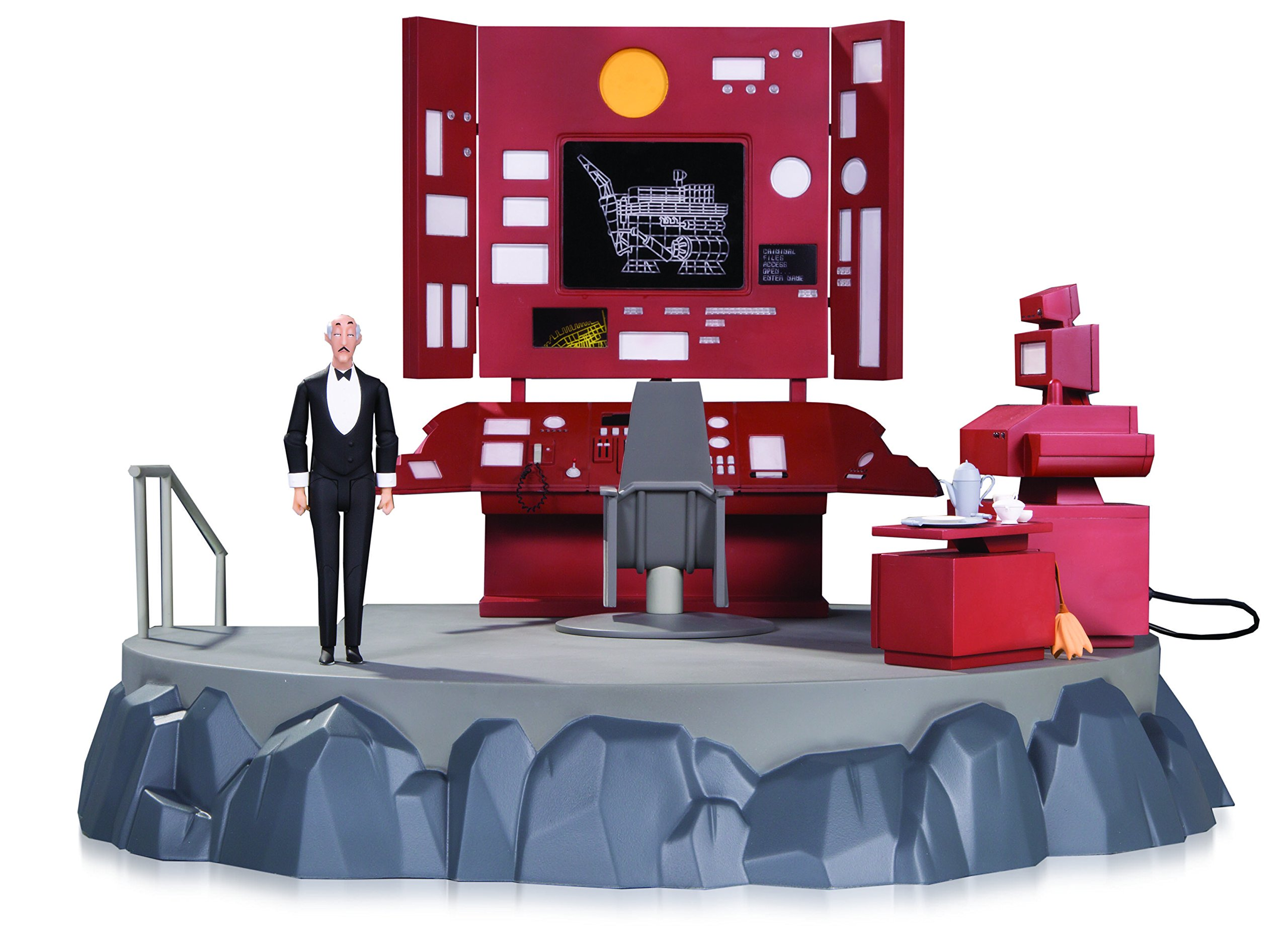 DC Collectibles Batman The Animated Series Bat cave Playset with Alfred Action Figure