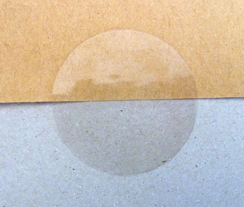 Minilabel - Etichette autoadesive trasparenti lucide, rotonde, con adesivo permanente, 25 mm di diametro, 102 pezzi 25mmpermclearseals
