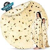 Zulay Cobija gigante en forma de burrito, grande, para adultos y niños, cobija redonda de franela suave de calidad, para…