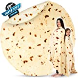 Zulay (60 Inch) Giant Burrito Blanket Double Sided - Novelty Big Burrito Blanket for Adult and Kids - Premium Soft Flannel Ro
