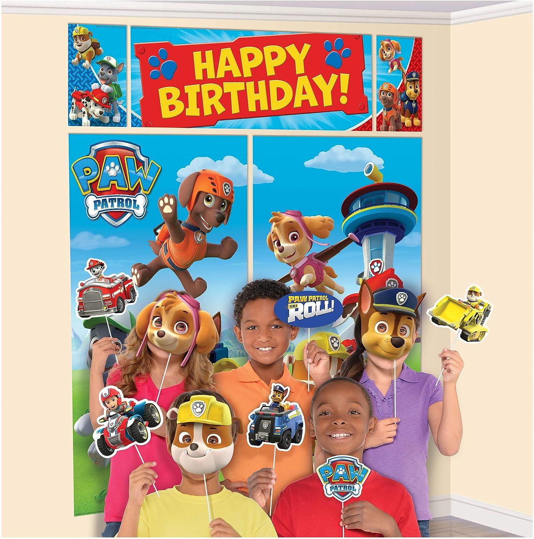 Decoración de cumpleaños de paw patrol
