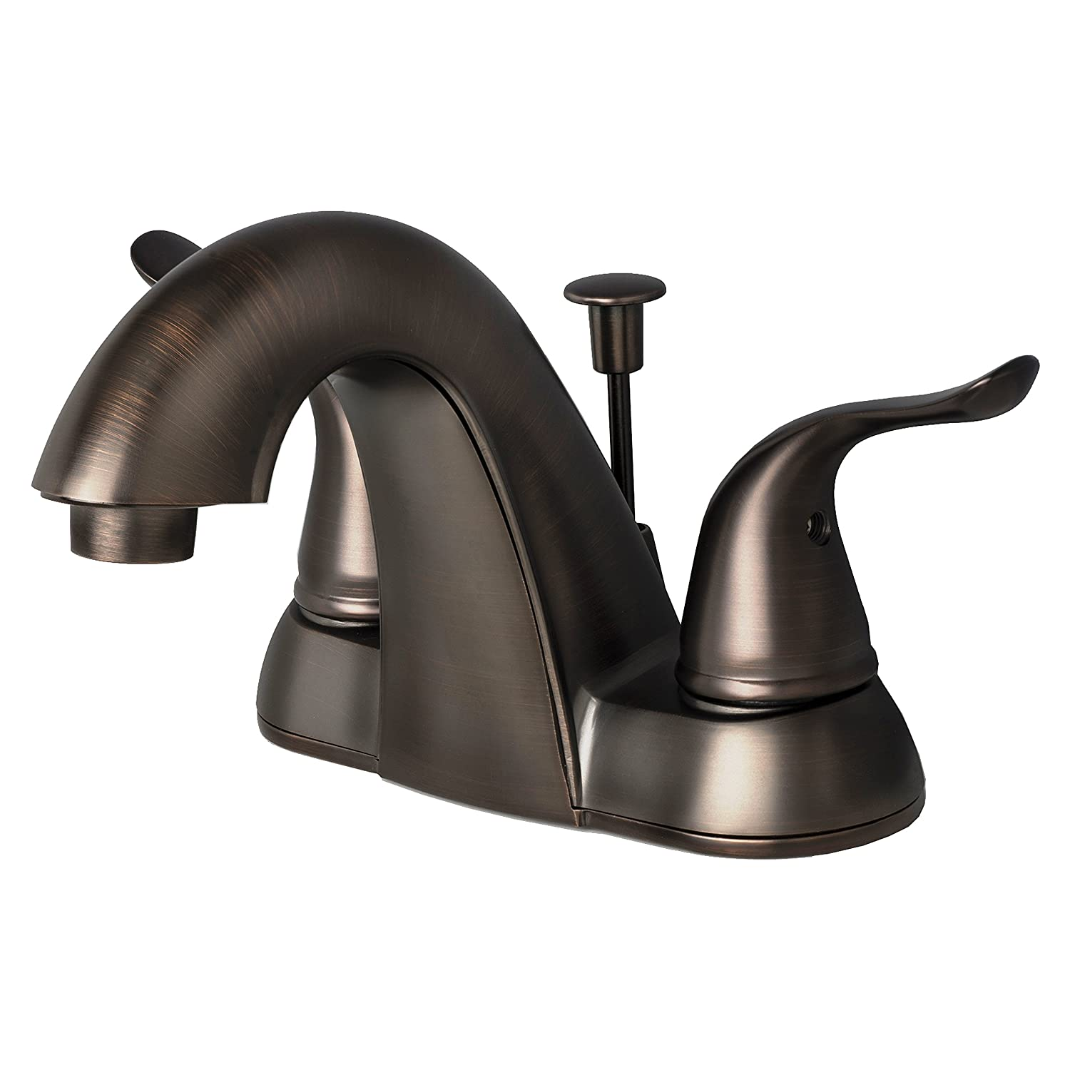 Builders Shoppe 2025bz Two Handle Centerset Lavatory Faucet With Pop Up Drain Brushed Bronze