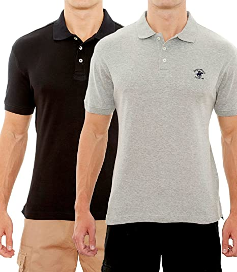 Beverly Hills Polo Club Men S Soft Touch Knit Polo With Horse Logo