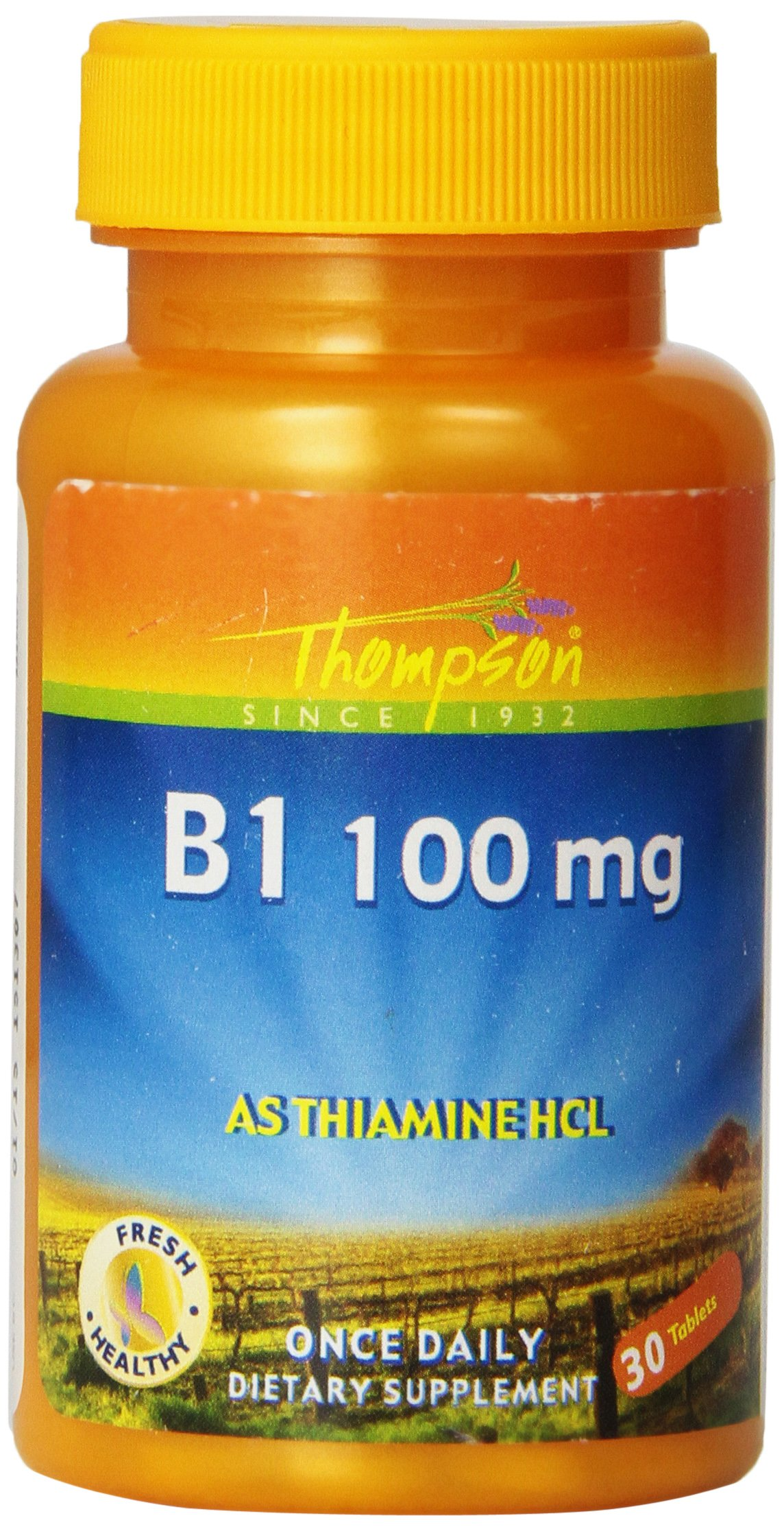 Thompson B-1 Tablets, 100 Mg, 30 Count (Pack of 4)