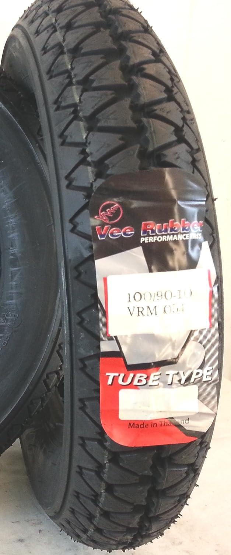 1 Copertone pneumatico 100//90-10 56P VEE RUBBER ottimo per scooter e APE 50