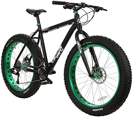Amazon.com : Framed Minnesota 2.0 Fat Bike Black/Green Sz 16 ...