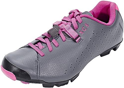 SHIMANO - Zapatillas de Ciclismo para Mujer Grey Magenta 39 EU: Amazon.es: Zapatos y complementos