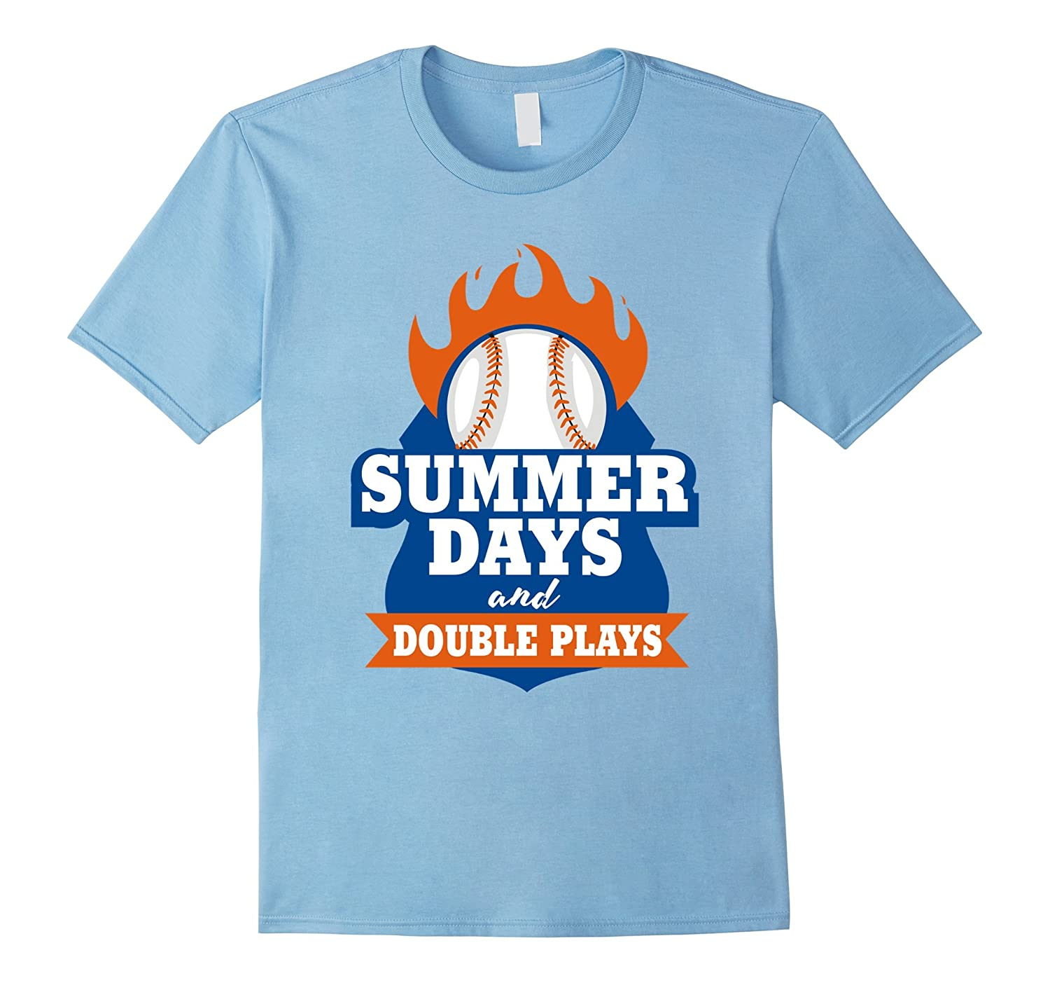 96e795d76d11 Summer Days And Double Plays! T-Shirt-gm – Ganamatee
