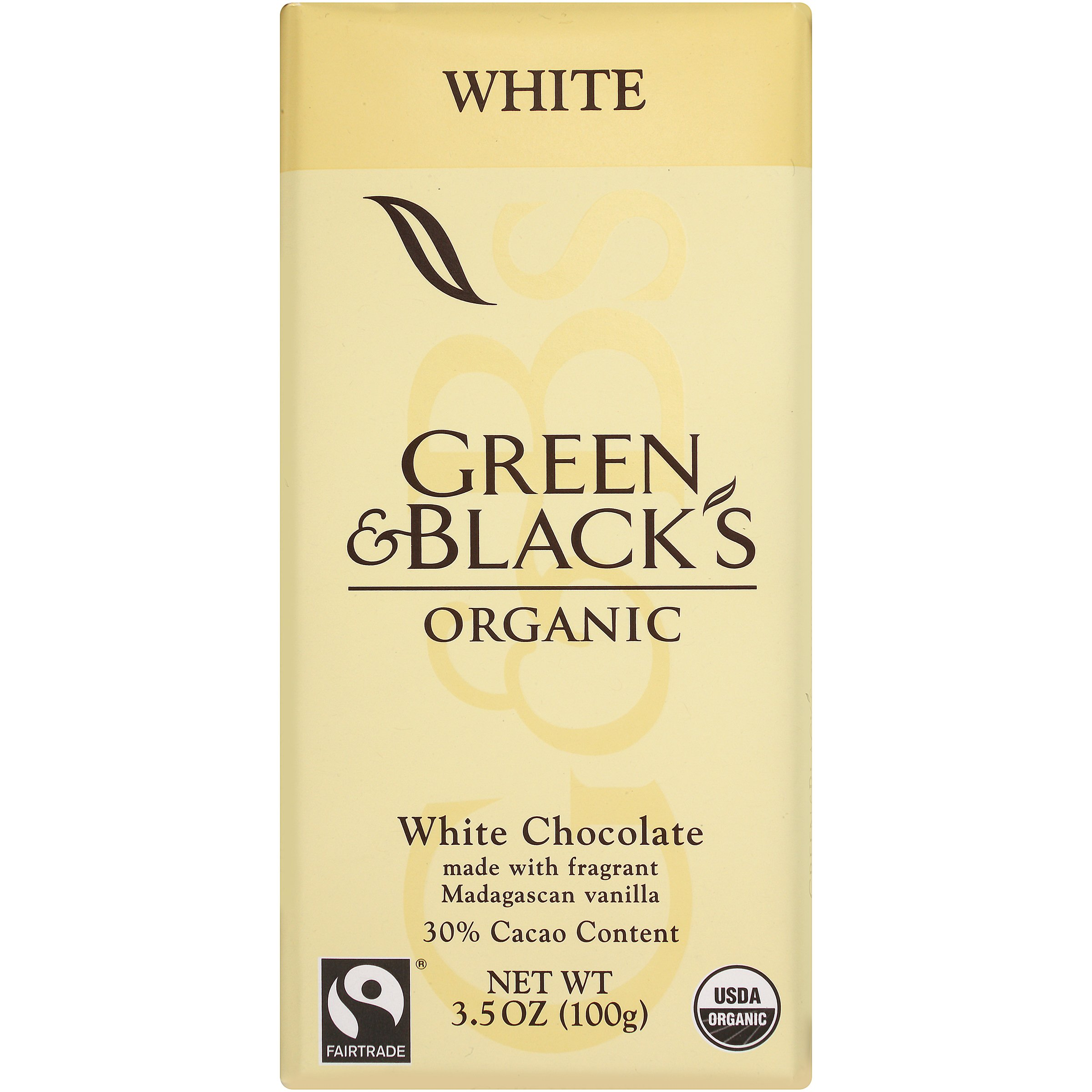 Green & Black's Organic White Chocolate with Vanilla (10 total bars) 30% Cacao Bars by Green & Black's