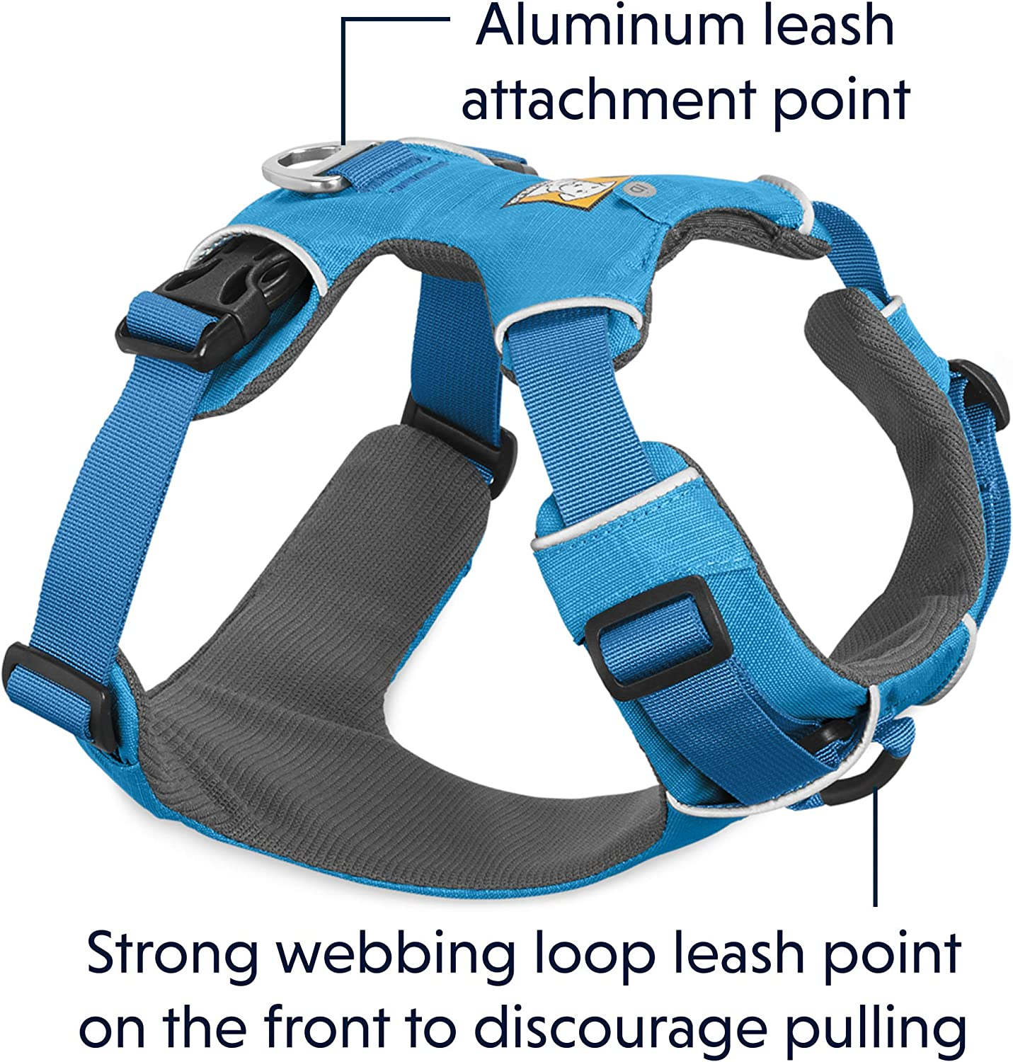 Trail Running All-Day Wear Everyday No Pull Dog Harness with Front Clip Front Range RUFFWEAR Walking Hiking