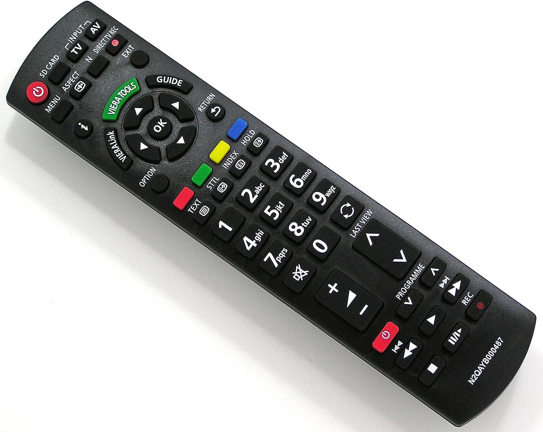 Mando a distancia de repuesto para Panasonic VIERA N2QAYB000487, mando a distancia para TV: Amazon.es: Electrónica