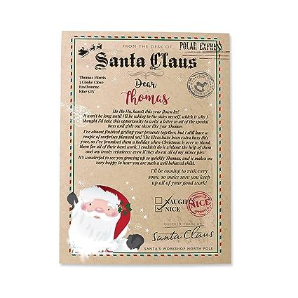 Personalizable de Papá Noel carta: Amazon.es: Hogar