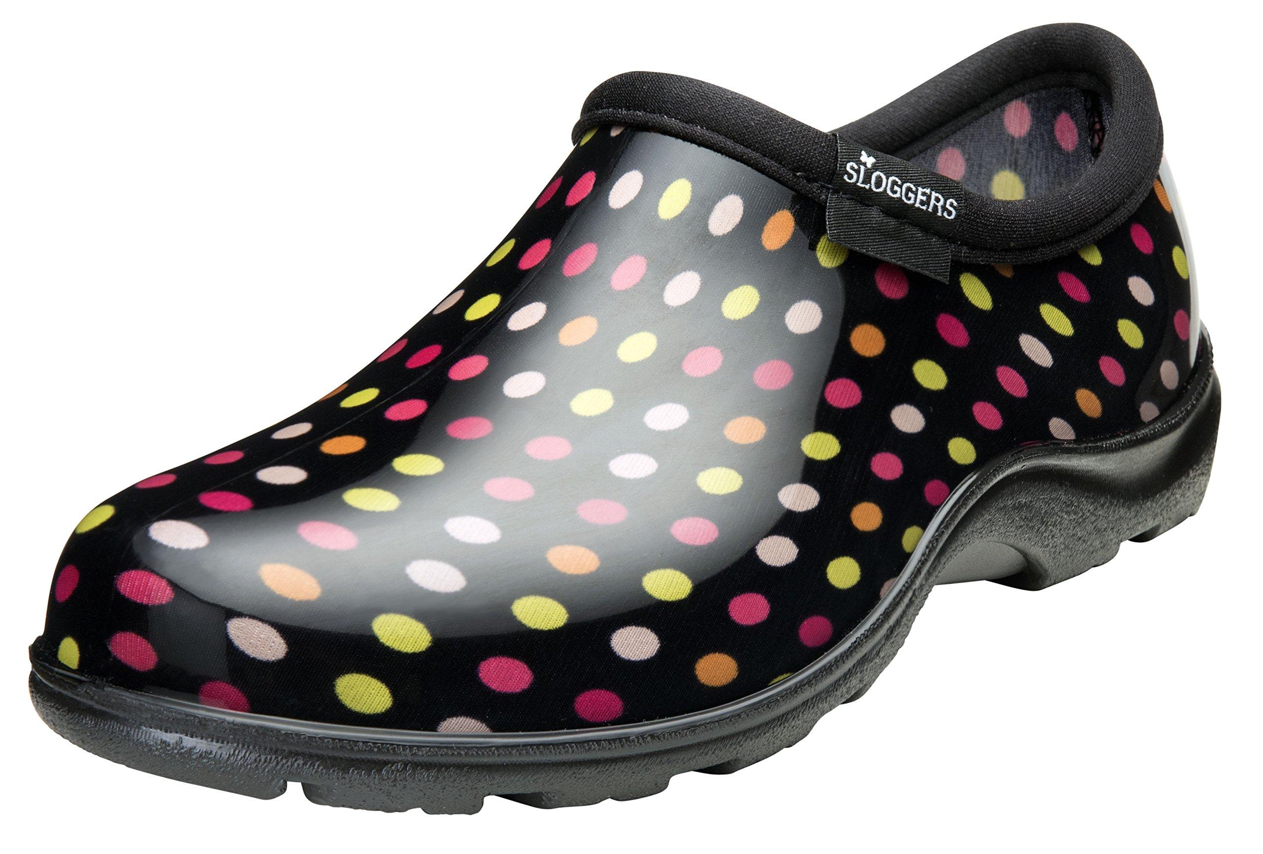 Sloggers Women's Rain and Garden Polka Dot Shoe, Size 11, Multicolor