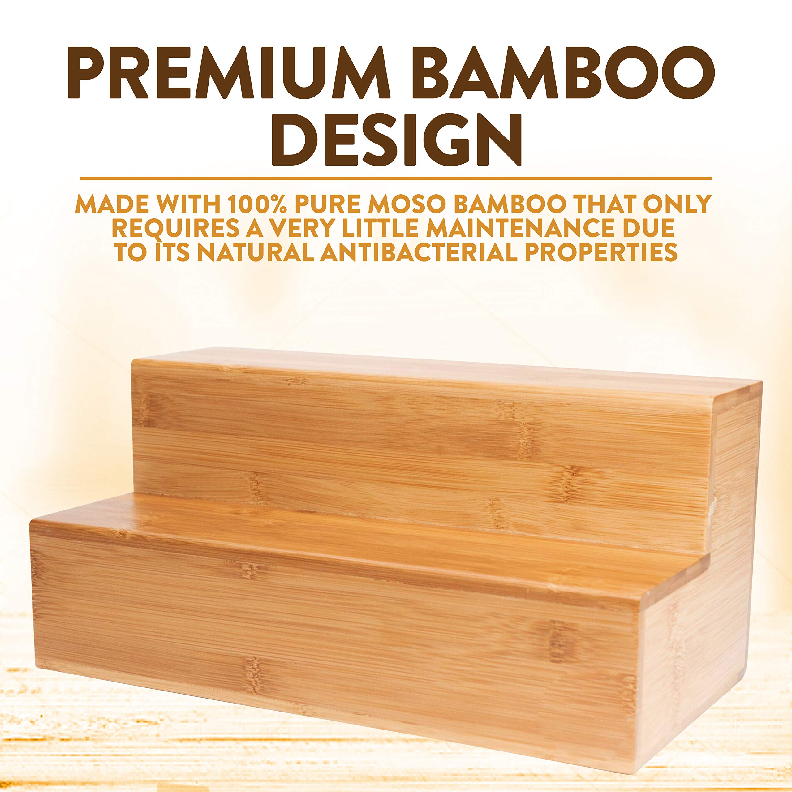 Coffee Tea Organizer Station - Bamboo Condiment and Accessories Caddy Organizer | for Kitchen and Office Organization by Bambüsi (Image #9)