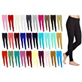 Plain Stretchy Viscose Lycra Leggings Sizes UK 8 - 26 Made in UK