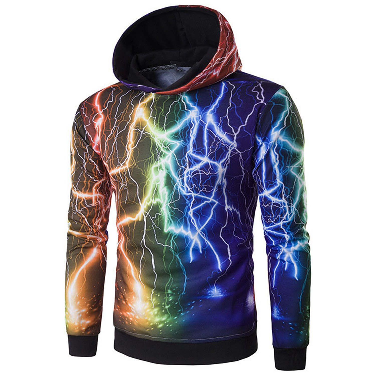 Matterin Christiao Top Fashion New Mens 3D Hoodies Sweatshirts Pullover Sudaderas Hombre Casual Jacket Coat at Amazon Mens Clothing store: