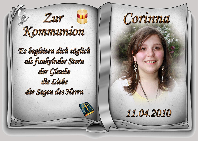 Tortenaufleger Fototorte Tortenbild Zur Kommunion Buchform Din A5