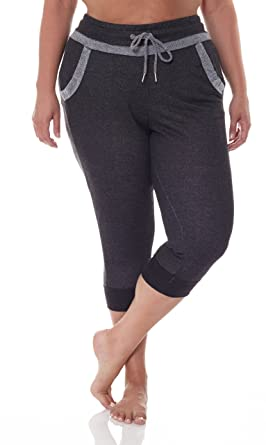 1366e71fe95a84 N.Y.L. New York Laundry NYL Women's Cuffed Workout Capri Pants With ...