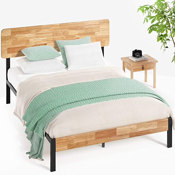 Zinus Olivia Metal And Wood Platform Bed With Wood Slat Support Twin Furniture Decor Amazon Com