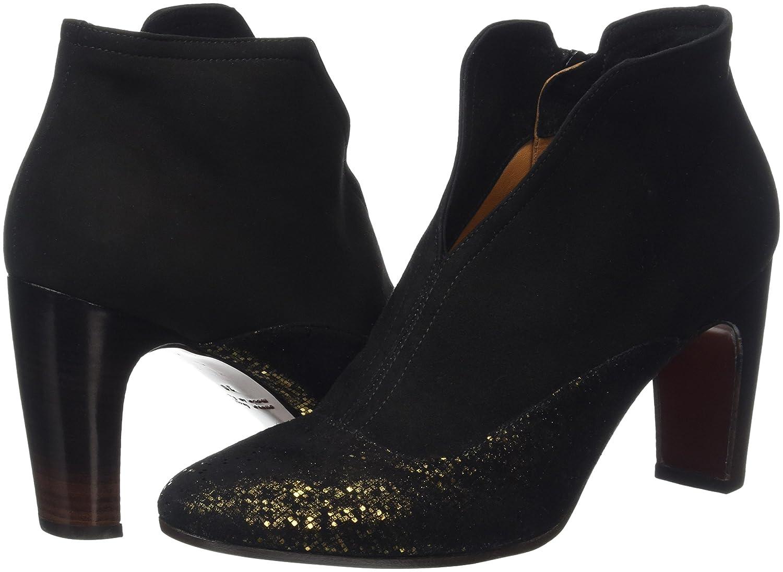 Fedora-d - Botines para Mujer, Color Negro - Black (Pixy Bronce/Ante Negro), Talla 40 EU Chie Mihara