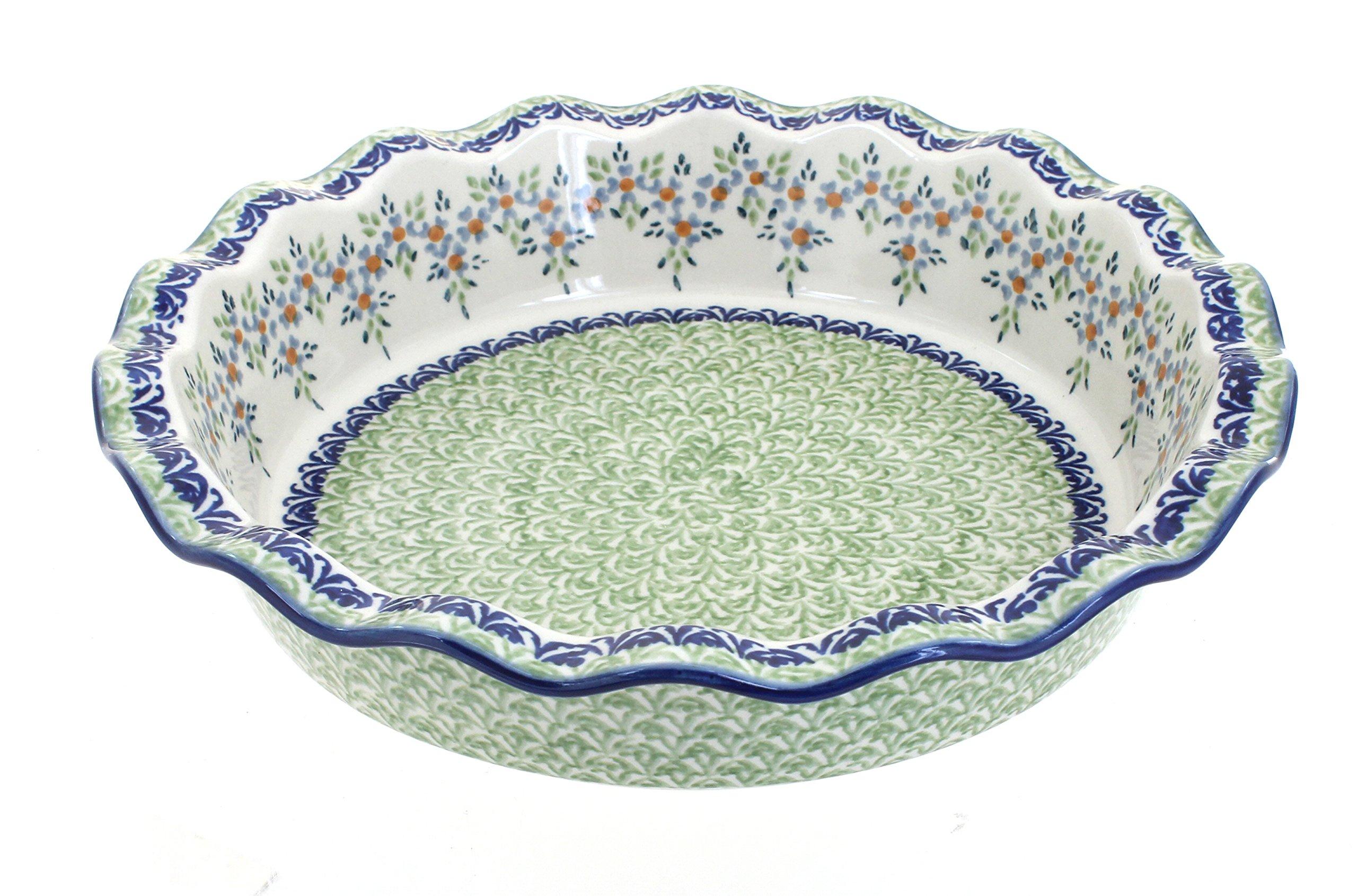 Polish Pottery Summer Vine Pie Plate