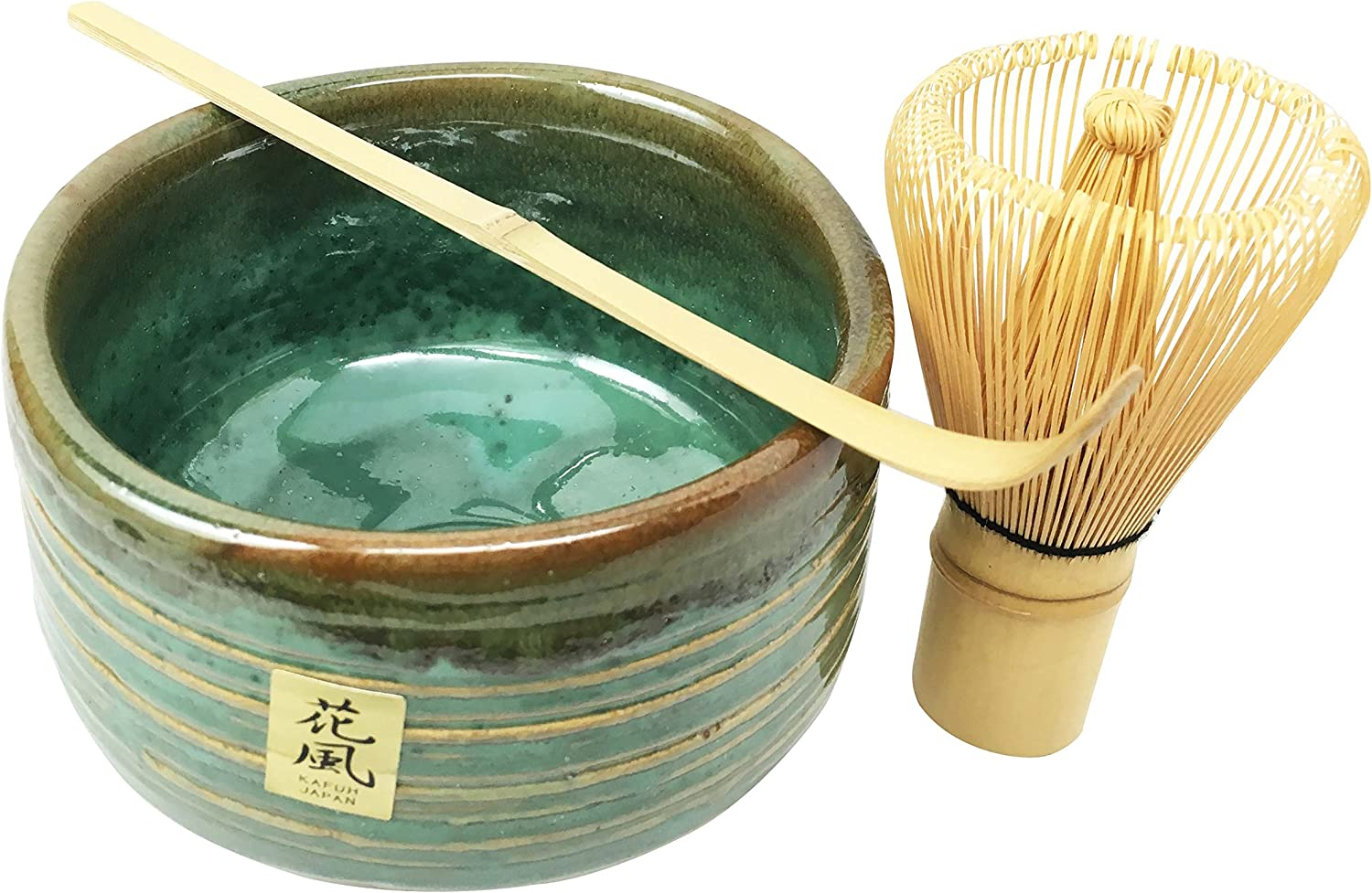 Amazon Com Japanese Traditional Tea Ceremony Matcha Green Tea Set With Bowl Wooden Whisk And Scoop Aesthetic And Quality Put Together Into A Beautiful Gift Set Box For Weddings Gifts Home Decorative