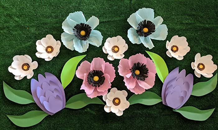 Amazon spring wild flowers for wall decor includes 12 paper spring wild flowers for wall decor includes 12 paper flowers and 8 paper leaves mightylinksfo