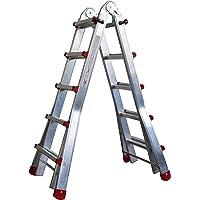Escalera Articulada Telescópica Plegable 5+4 en 2 Tramos