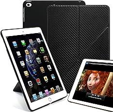 KHOMO - Funda para iPad DE 9,7 Pulgadas (2017 y 2018), Fibra de Carbono, iPad 9.7 Inch (2017 & 2018)