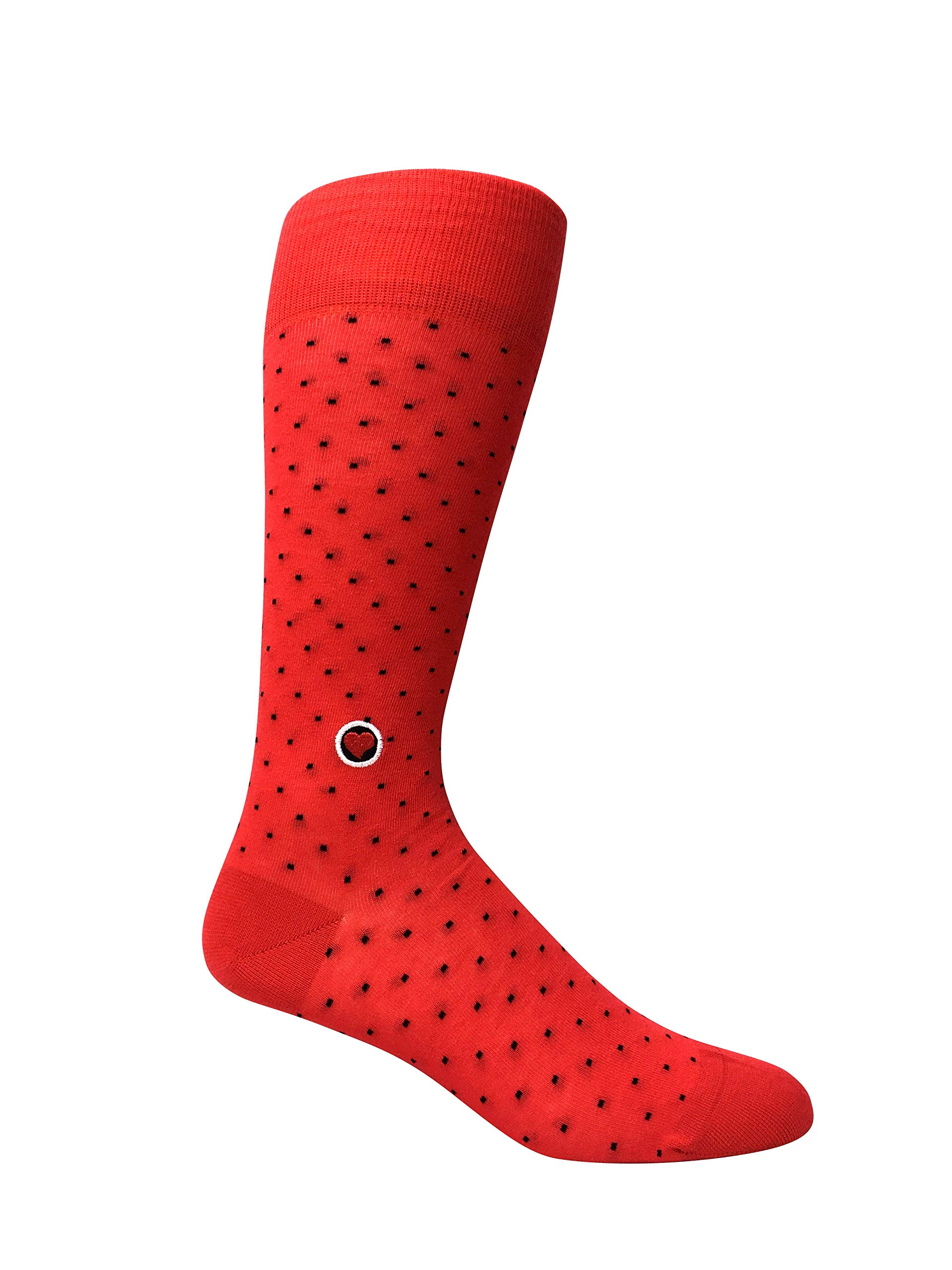 Men's Red Dress Socks with Polka Dots - Biz Dots Red for Groomsmen