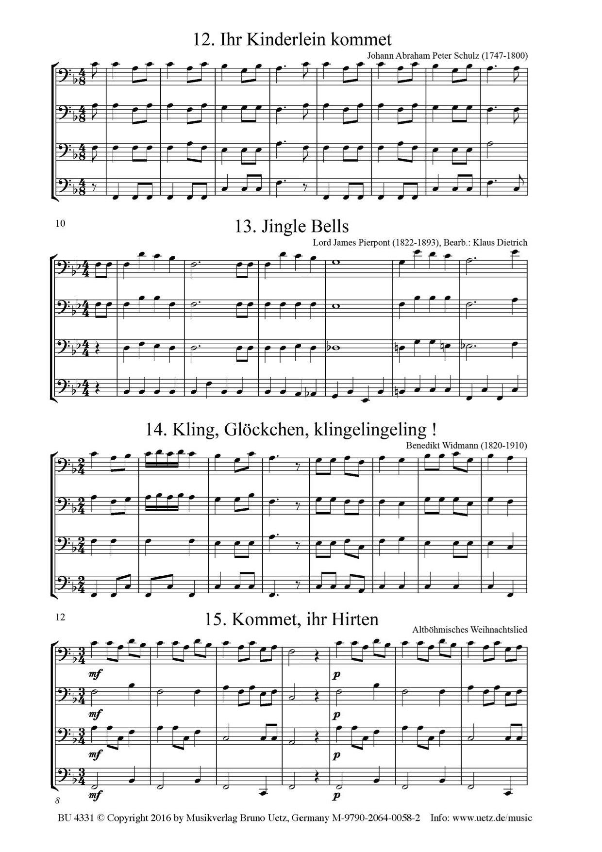 Fröhliche Weihnachten. 35 der schönsten Weihnachtslieder für ...
