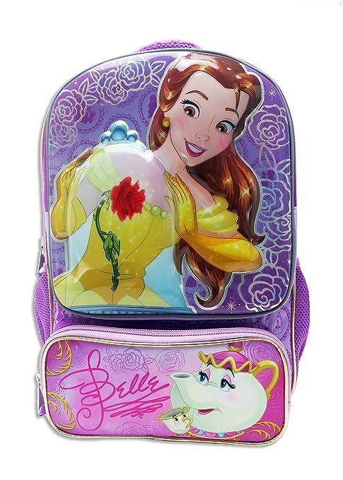 Mochila escolar Disney Princess Bella con organizador