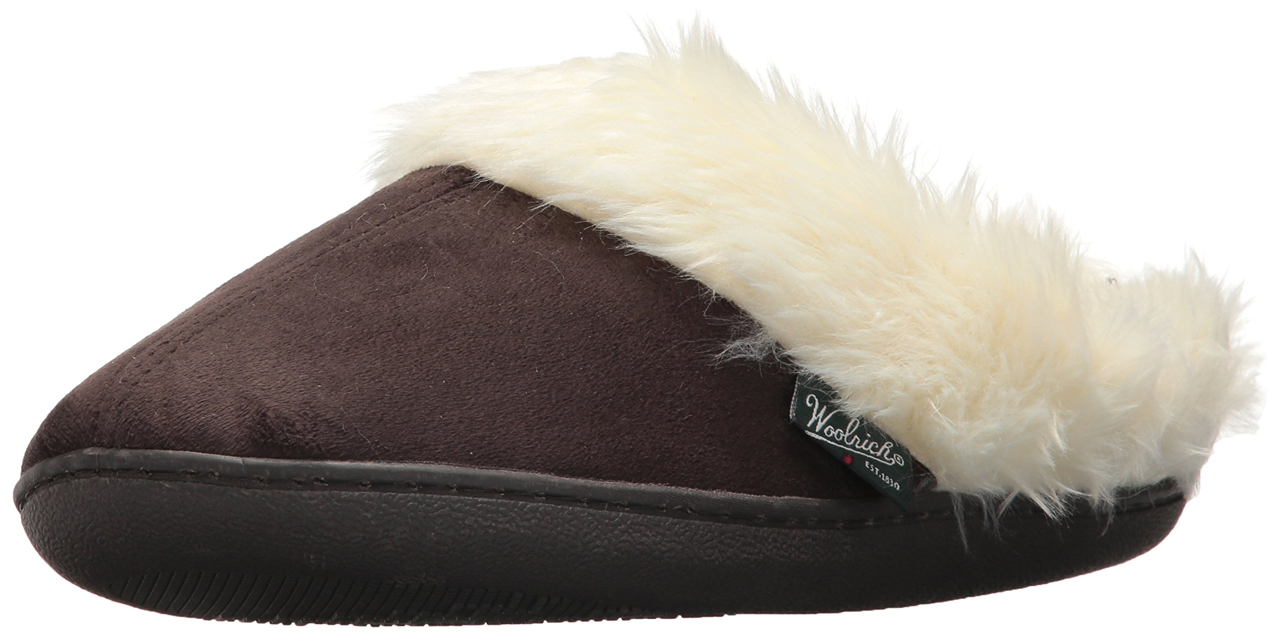 Woolrich Women's Cabin Lounger Moccasin, Chocolate, 8 M US