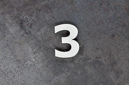 EVI Herrajes 641/80-3 Numero Tres,3, Acero Inoxidable 316, 3Mm Grosor, e, 80mm