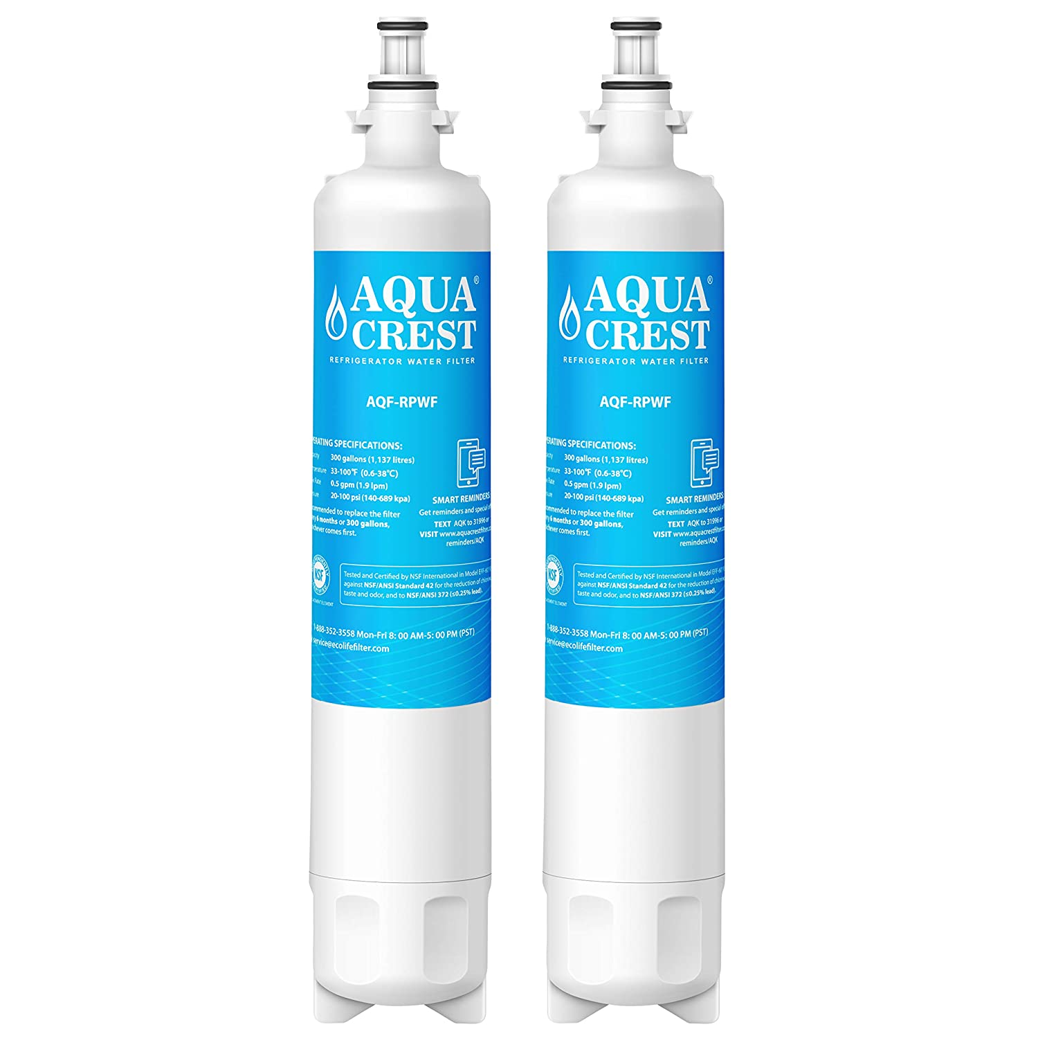 AQUACREST Replacement RPWF Refrigerator Water Filter, Compatible with GE RPWF (Pack of 2) (NOT RPWFE)