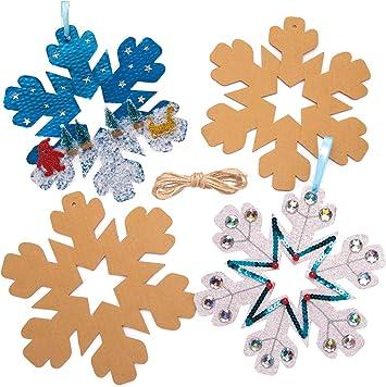 Baker Ross Copo De Nieve Artesanía Coronas Navidad (Pack de 10 ...