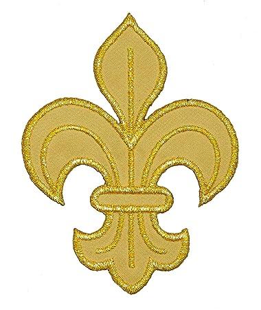 Amazoncom Gold Fleur De Lis Boy Girl Scout Scout Diy Applique