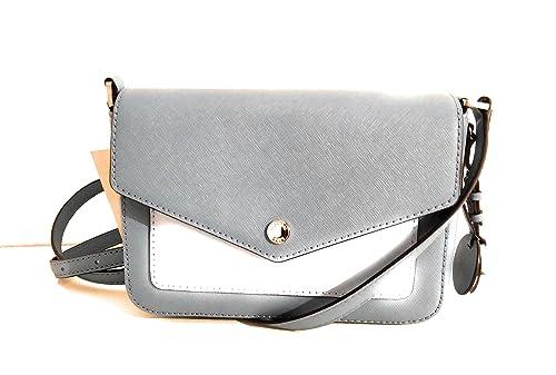 78a95395f0a6 Michael Kors Greenwich Saffiano Leather Shoulder Bag Small Handbag (Sky  blue)