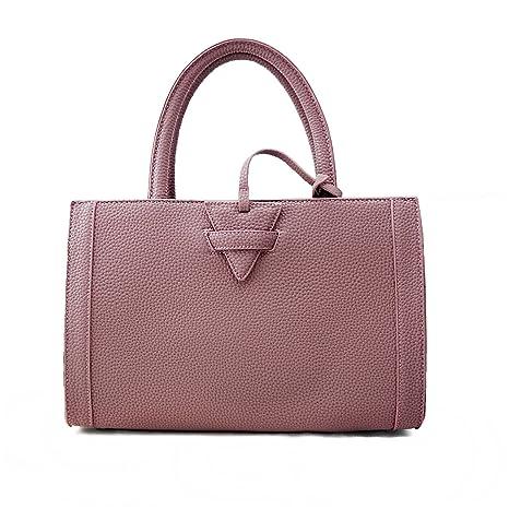 Jieway Women s PU Leather Inverted triangle Top-handle Handbag Messenger Bag  Shoulder Bags (purple c330266d31e44