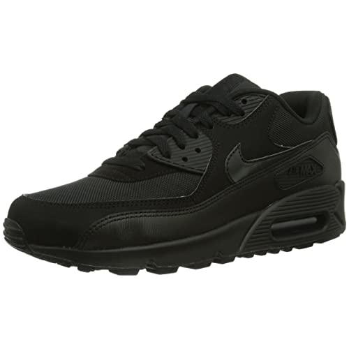 sports shoes 7125d 27464 denmark mens nike air max 90 essential exercise fitness running low cut  sneakers black black 7cf19