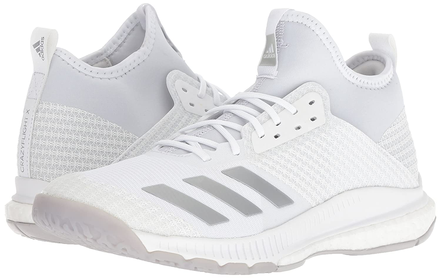 info for cbcf1 8a720 adidas Womens Crazyflight X 2 Mid Volleyball Shoe, WhiteSilver  MetallicGrey, 13.5 M US Amazon.fr Chaussures et Sacs