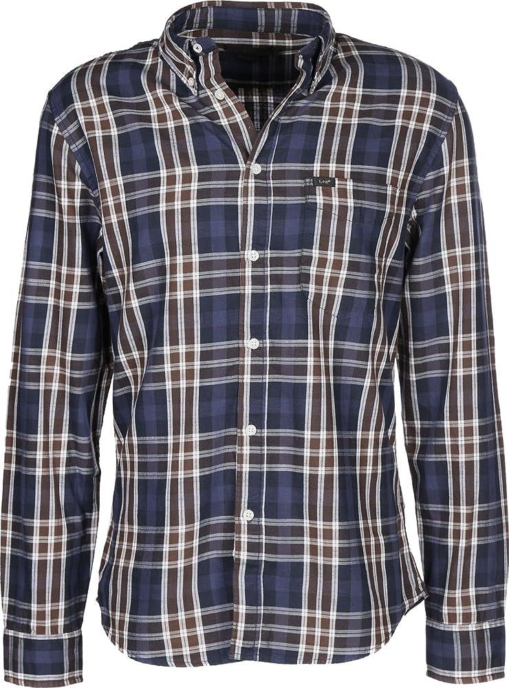 Lee - Camisa Quadros Slim Fit - Azul, M: Amazon.es: Ropa y accesorios