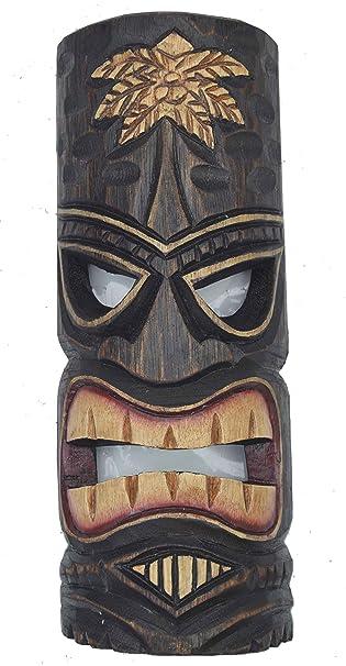Tiki Masken im 3er Set 3 Wandmasken Tiki Hawaii Wandmaske Holzmaske Maske Lounge