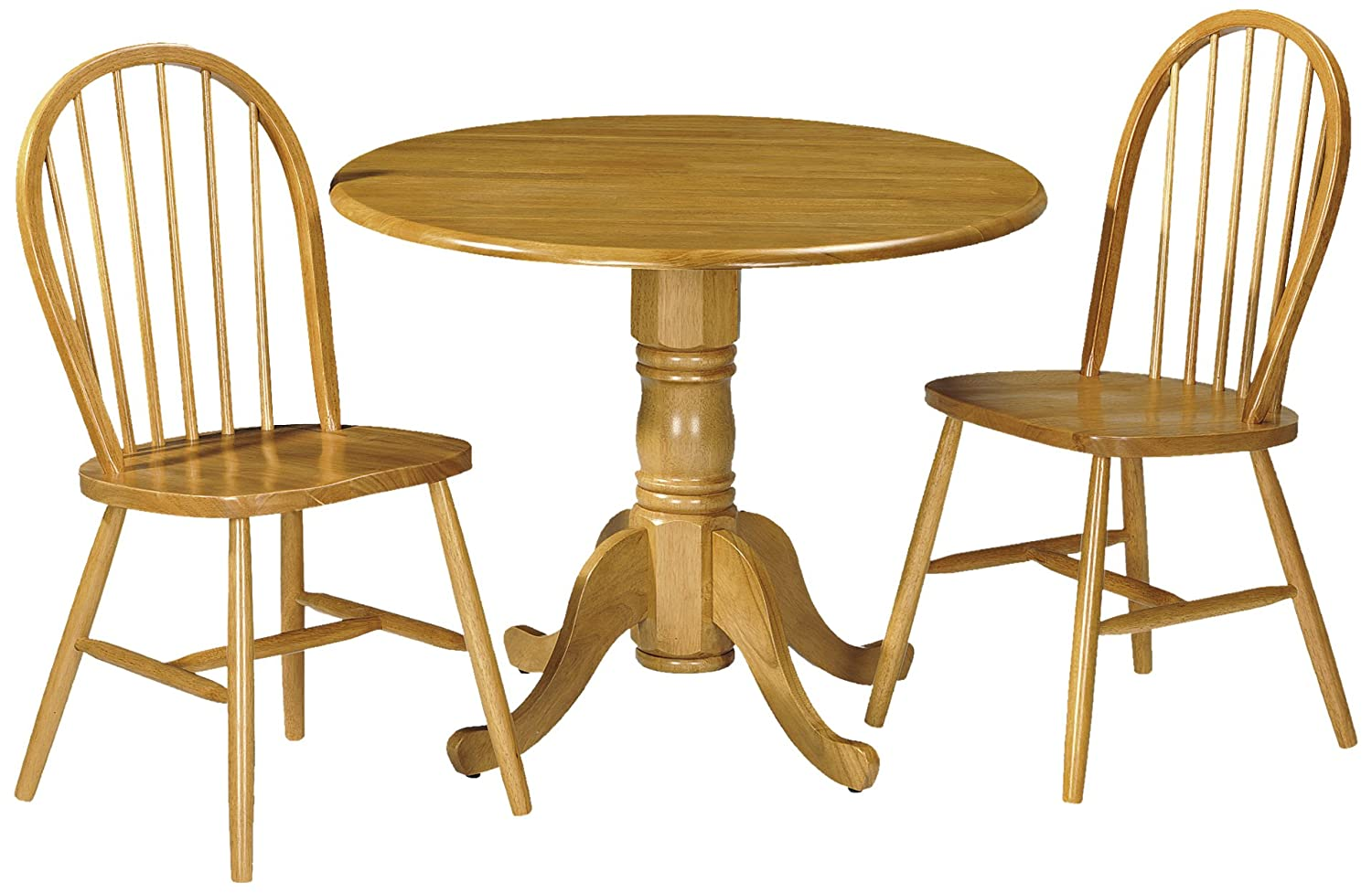 Julian Bowen Dundee Dropleaf Table Set With 2 Windsor Dining Chairs, Honey  Pine Finish: Amazon.co.uk: Kitchen U0026 Home