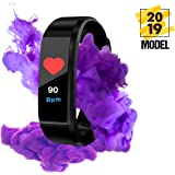 American Sparrow Fitness Tracker Fitness Activity Tracker, Heart Rate Monitor, Blood Pressure Watch,Calorie Counter Watch for Women, Waterproof Color Screen, Sports Wrist Bands for Kids Women Men